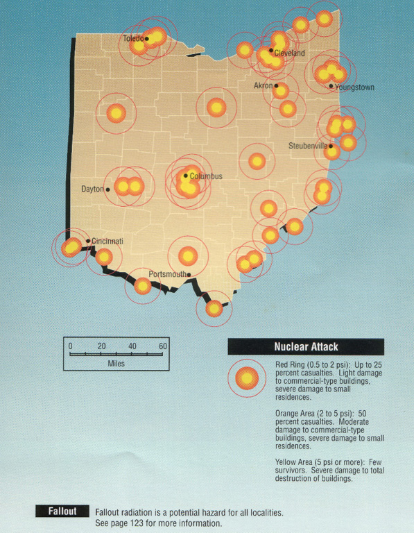 Ohio Nuclear Threats - Map of all nuclear power plants in the us