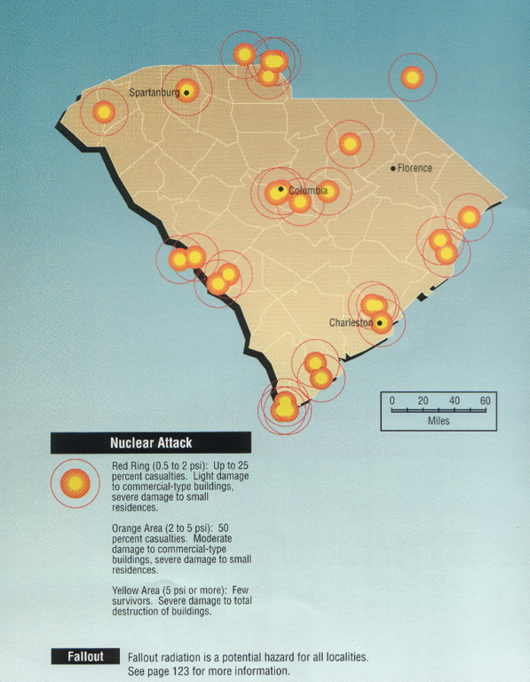 South Carolina Nuclear Threats - Map of all nuclear power plants in the us